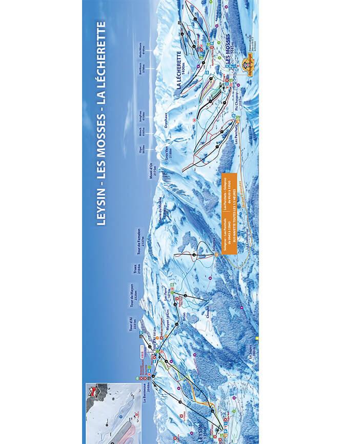 Leysin Snowboarding Map