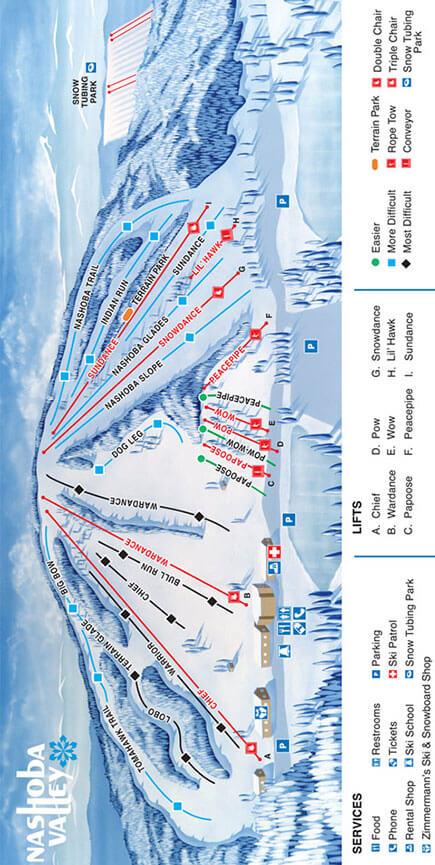 Nashoba Valley Ski Area Snowboarding Map