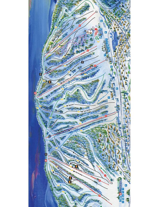 Mont Saint-Sauveur Ski Area Snowboarding Map