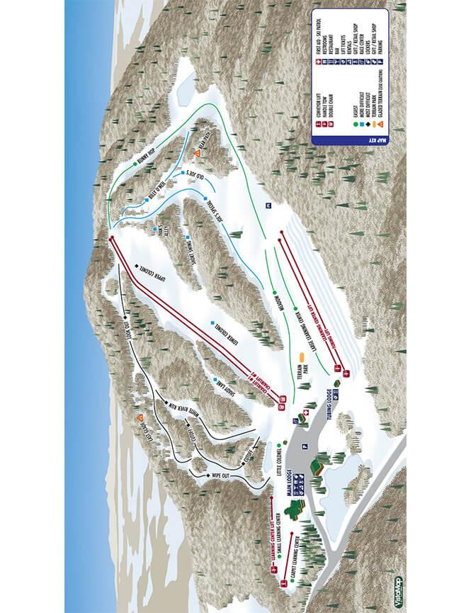 Willard Mountain Ski Area Snowboarding Map