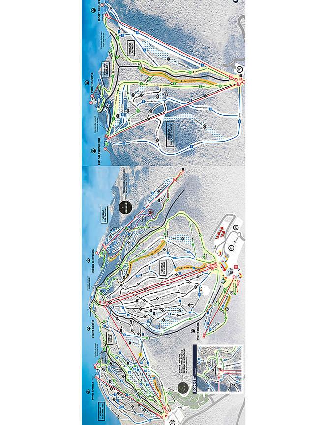 Ski Bromont Snowboarding Map
