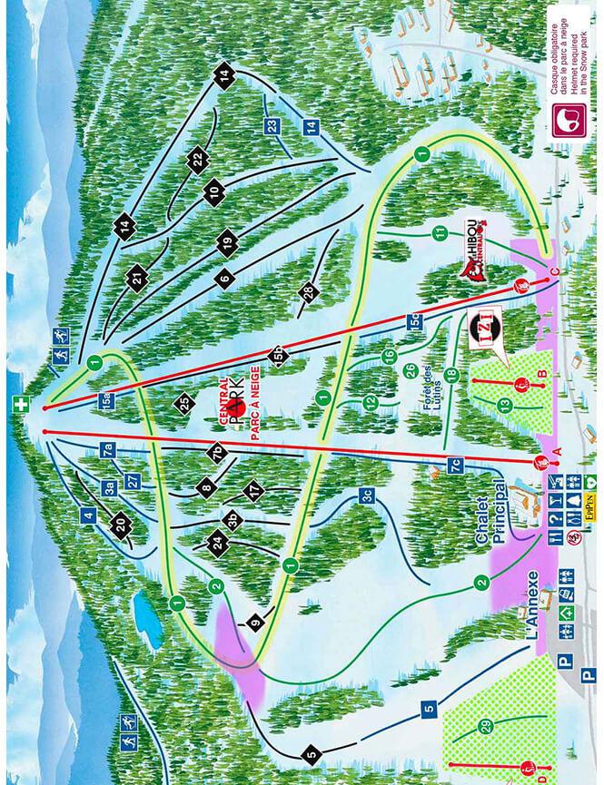 Ski Mont Garceau Snowboarding Map