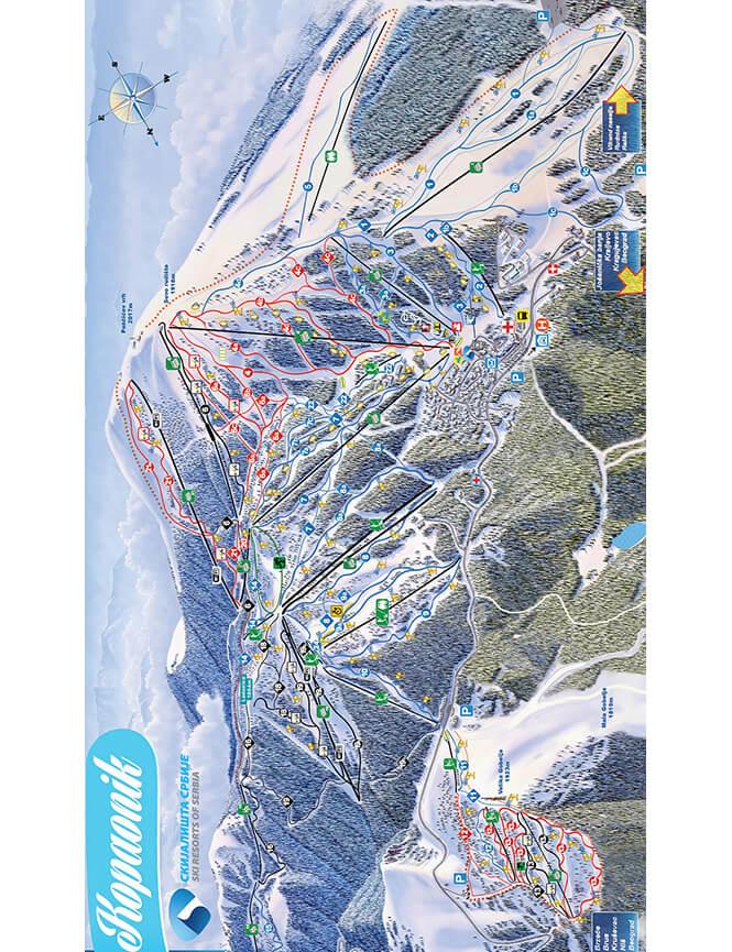 Kopaonik Ski Area Snowboarding Map