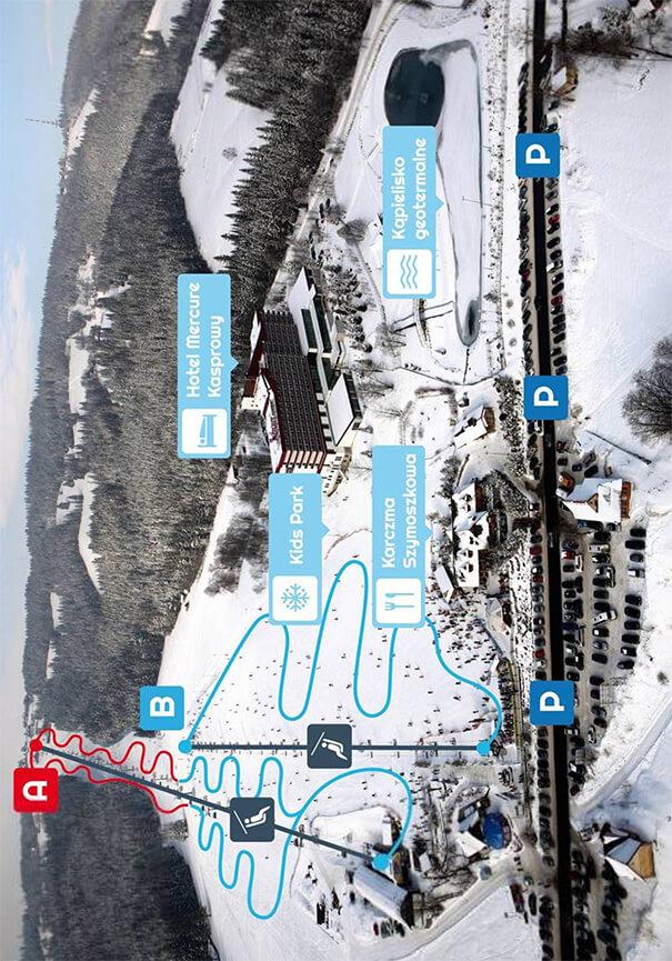 Polana Szymoszkowa Ski Area Snowboarding Map