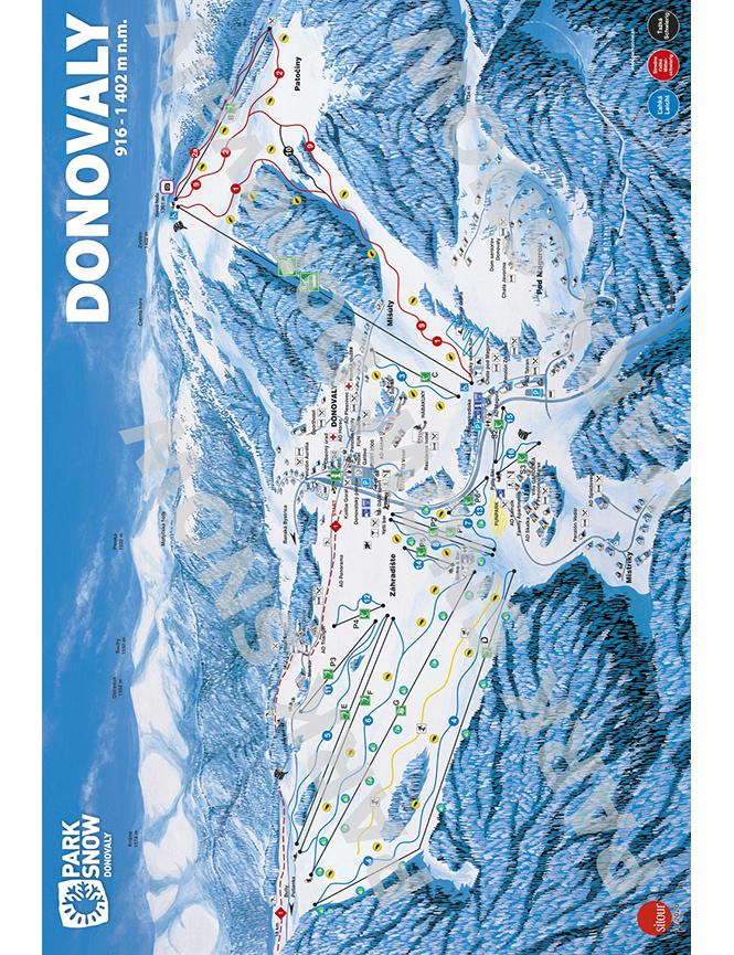 Donovaly Ski Resort Snowboarding Map