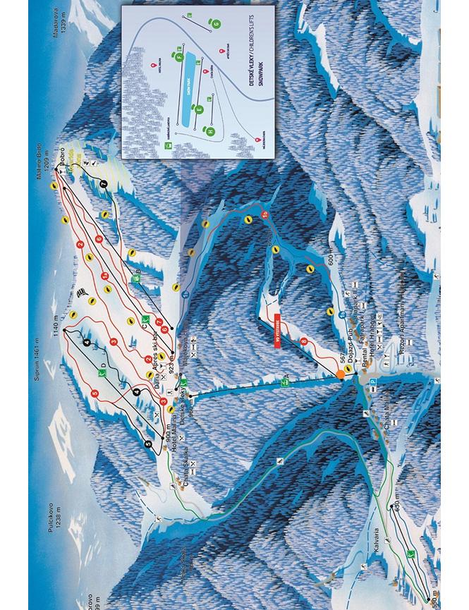 Skipark Ruzomberok Ski Area Snowboarding Map
