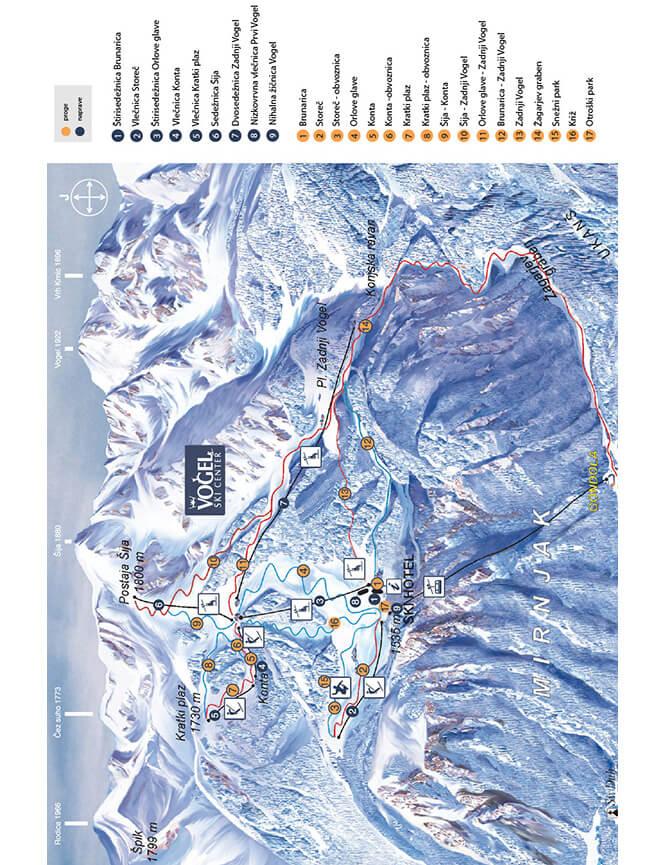Vogel Ski Area Snowboarding Map