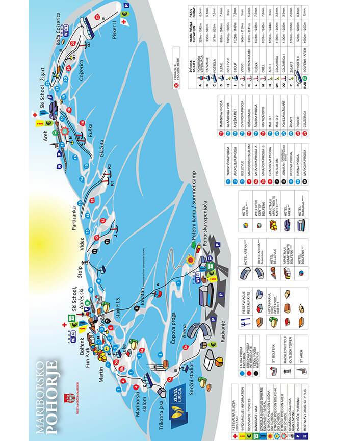 Pohorje Ski Area Snowboarding Map