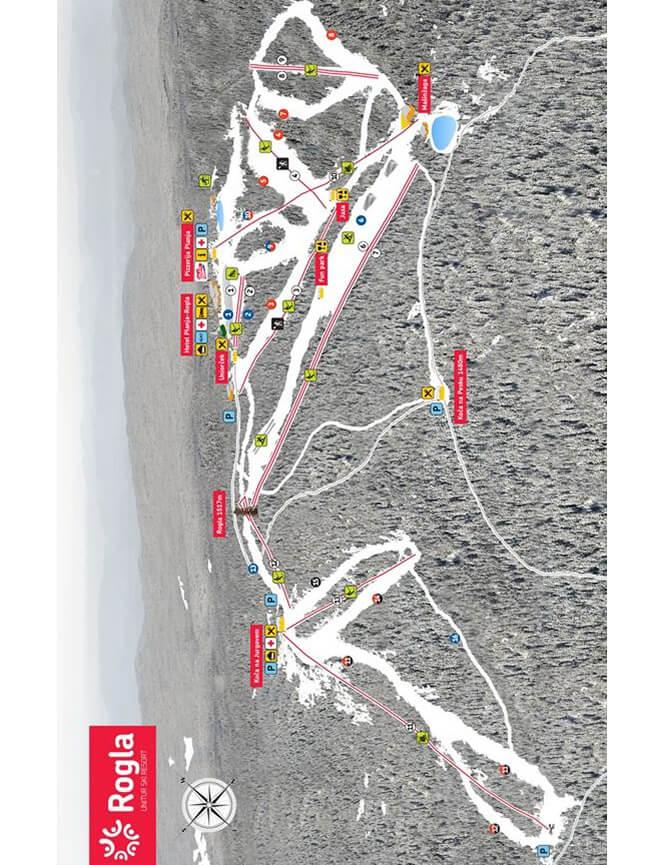 Rogla Ski Area Snowboarding Map