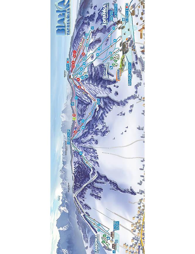 Bialka Tatrzanska Ski Area Snowboarding Map