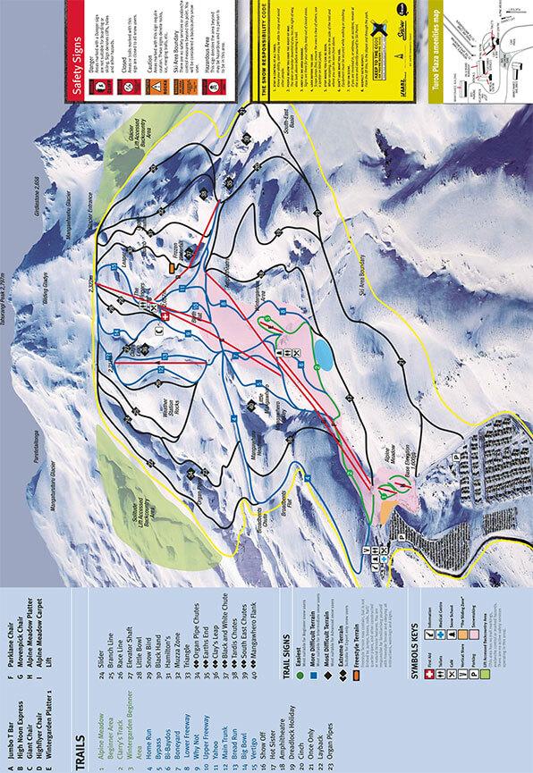 Turoa Ski Area Snowboarding Map