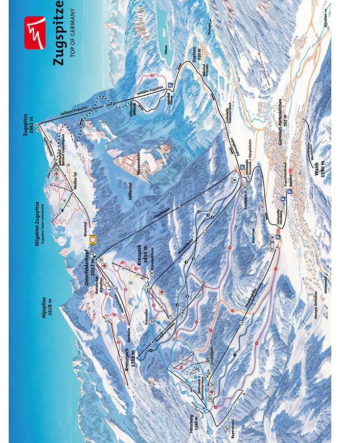 Garmisch-Partenkirchen Snowboarding Map