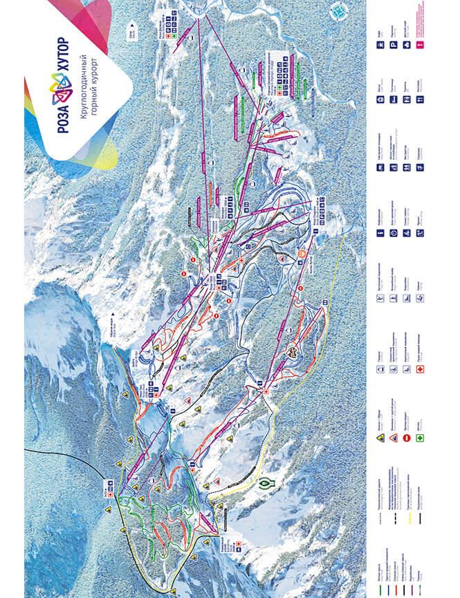 Krasnaya Polyana Snowboarding Map