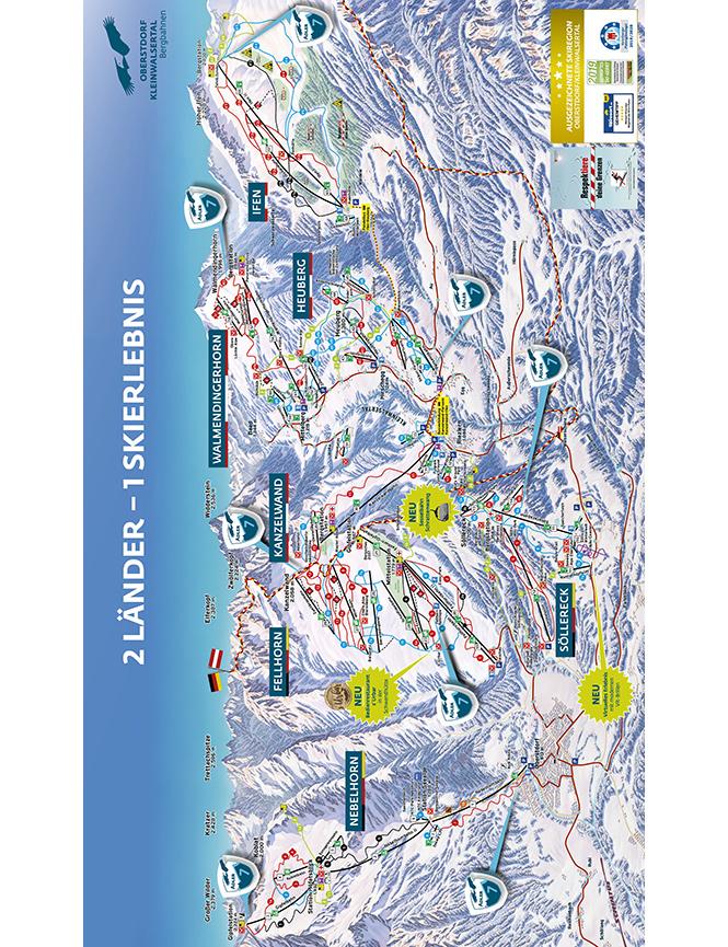Kleinwalsertal Snowboarding Map