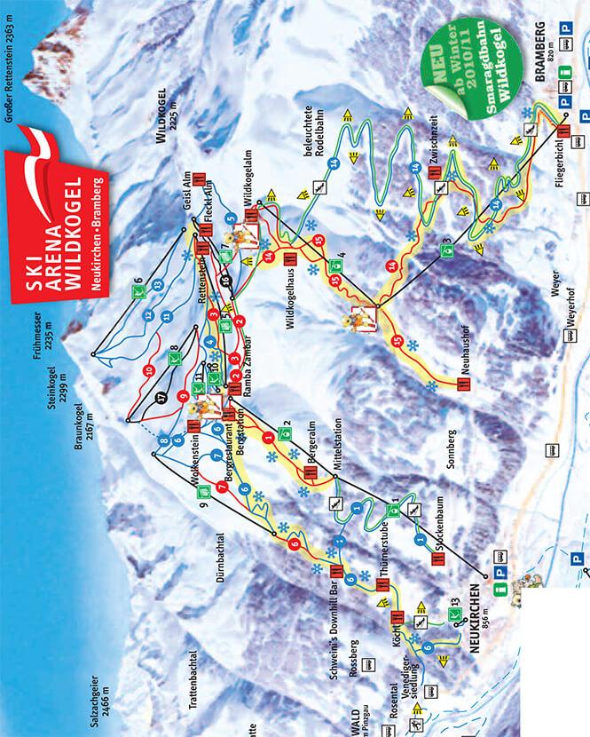 Wildkogel Snowboarding Map