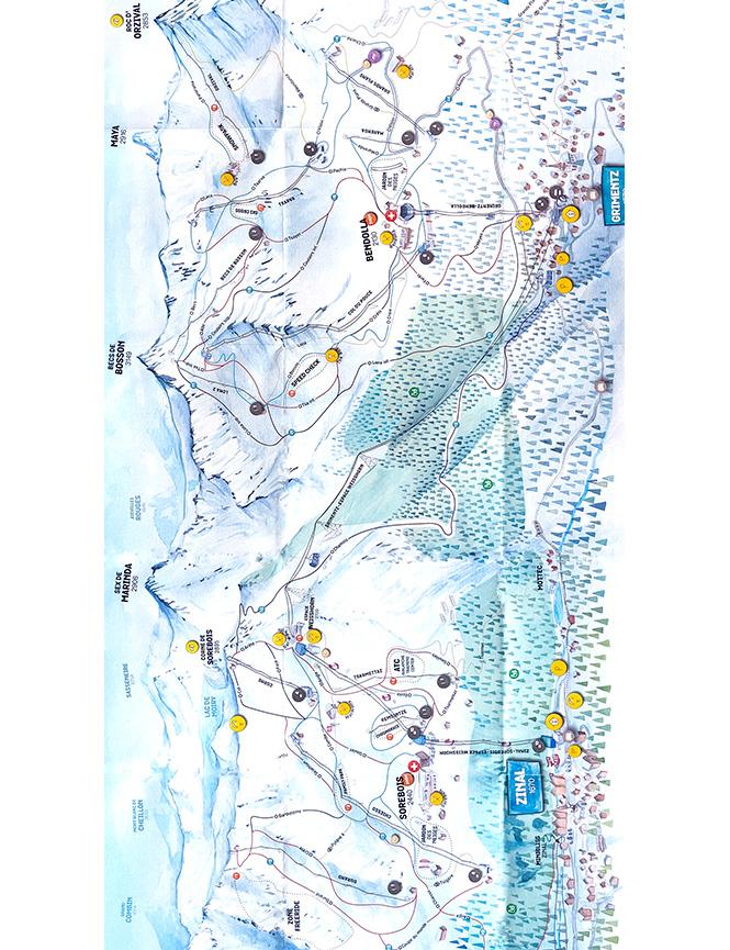 Grimentz - Zinal Snowboarding Map