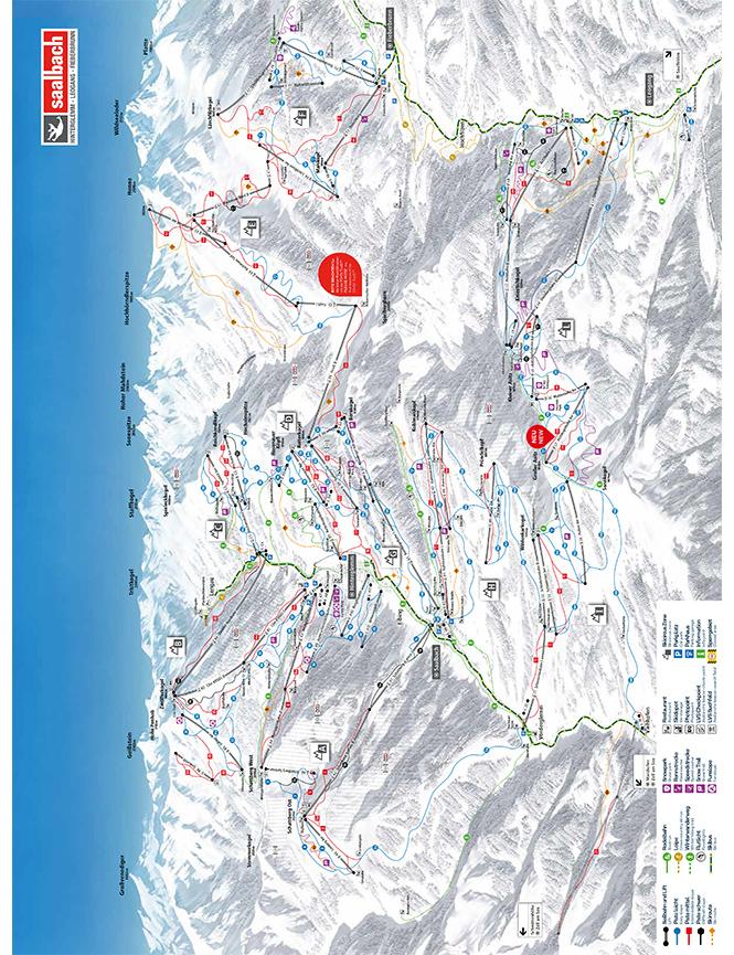 Saalbach-Hinterglemm Snowboarding Map