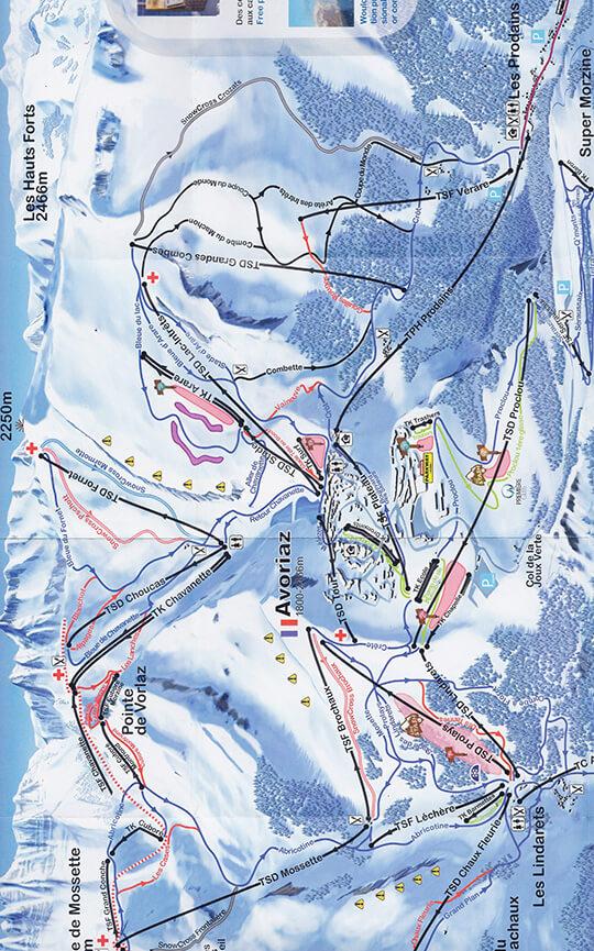 Avoriaz Snowboarding Map