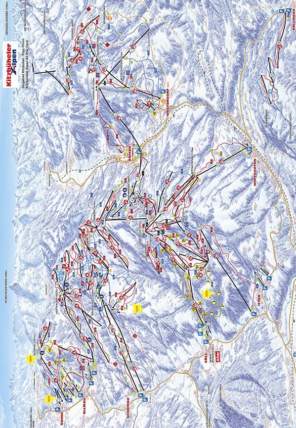 Ellmau Snowboarding Map
