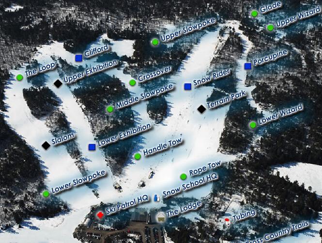 Mount Pakenham Ski Resort Snowboarding Map