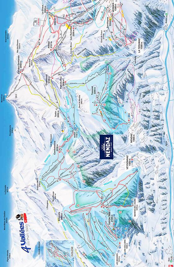 Nendaz Snowboarding Map