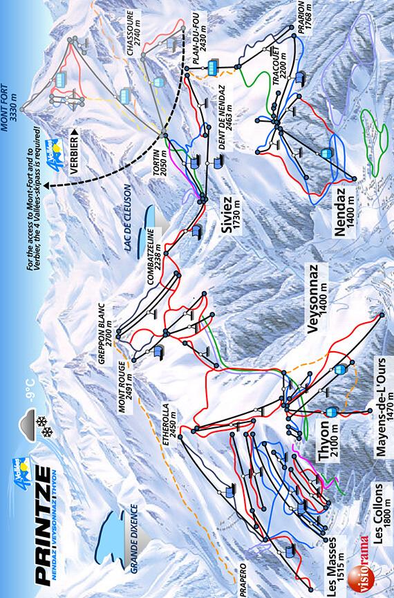 Thyon Snowboarding Map
