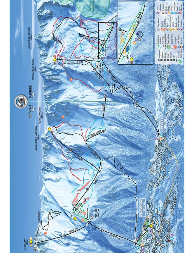 Domaine Brevent Flegere Snowboarding Map