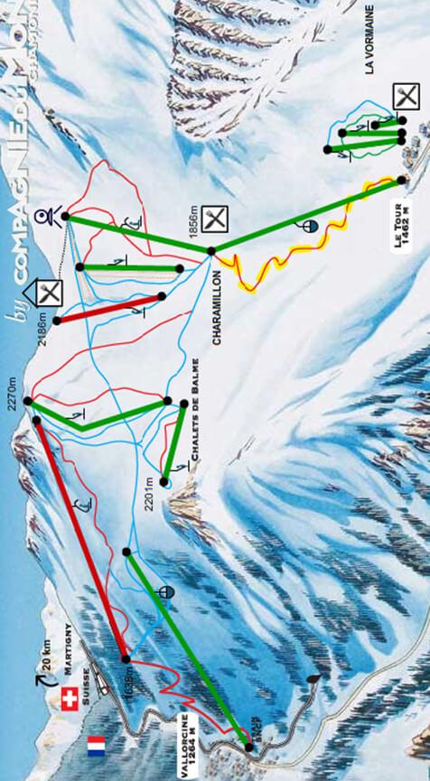 Domaine De Balme Snowboarding Map