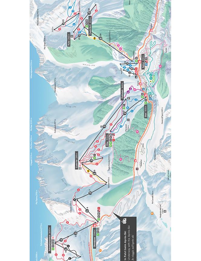 Sedrun Snowboarding Map