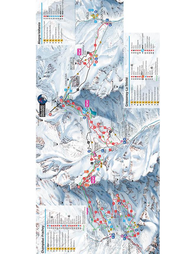 Alagna-Valsesia Snowboarding Map