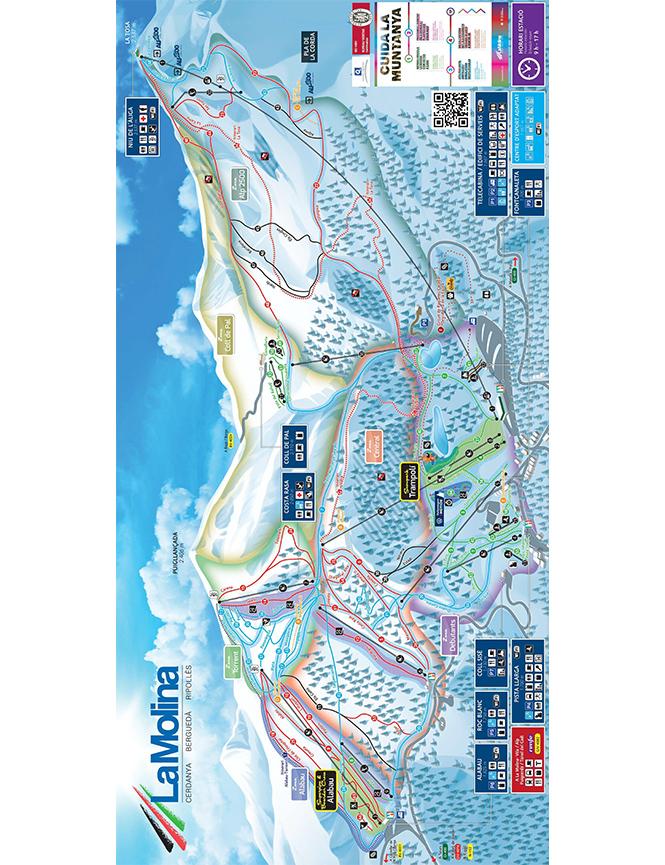La Molina Ski Area Snowboarding Map