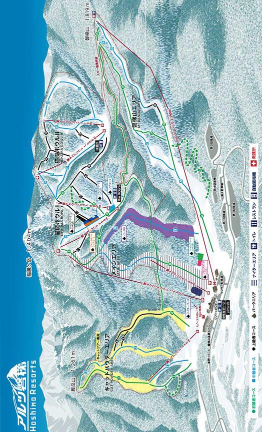 Alts Bandi Ski Resort Snowboarding Map