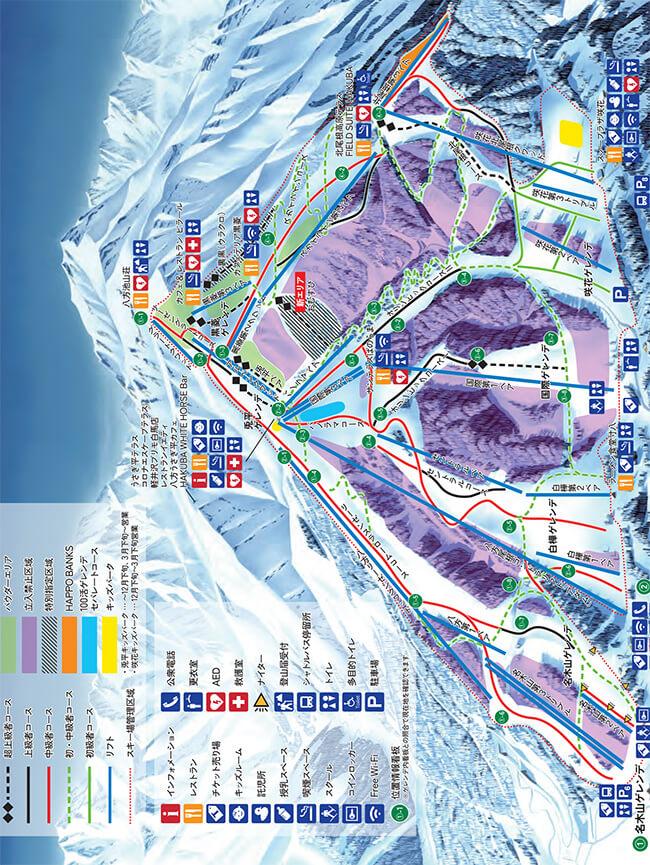 Happo One Ski Resort Snowboarding Map