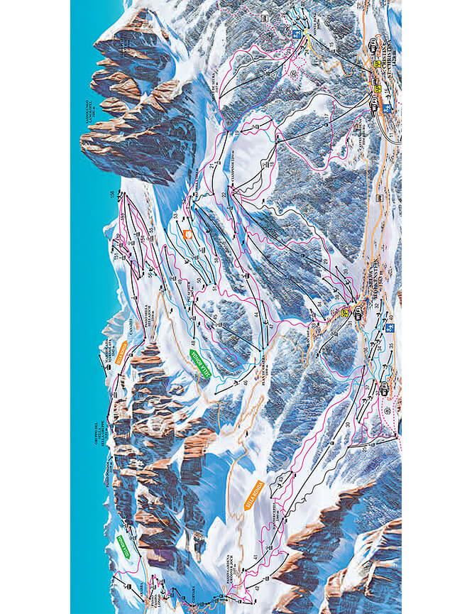 Val Gardena Snowboarding Map