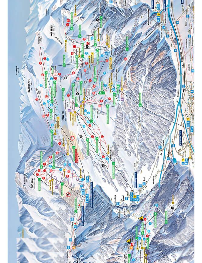Mayrhofen Snowboarding Map