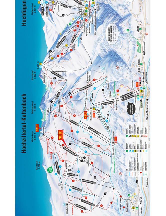 Hochfugen Snowboarding Map