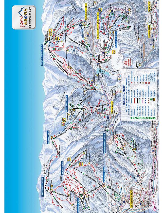 Gerlos Snowboarding Map