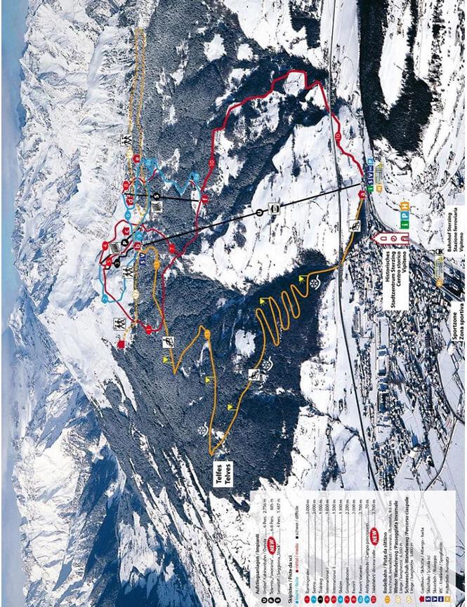 Rosskopf Monte Cavallo Snowboarding Map