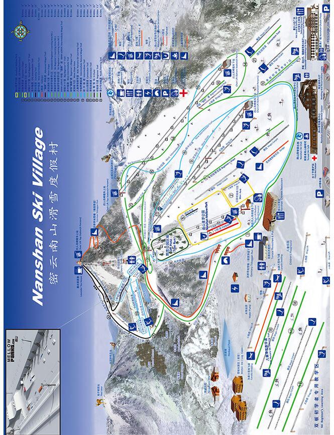 Nanshan Ski Area Snowboarding Map