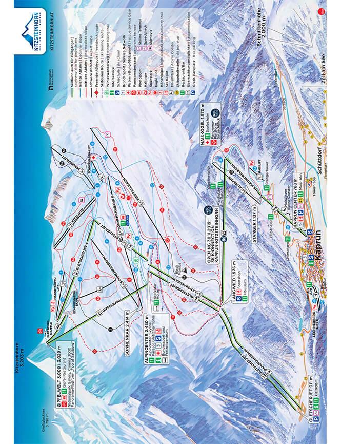Kaprun-Kitzsteinhorn Snowboarding Map