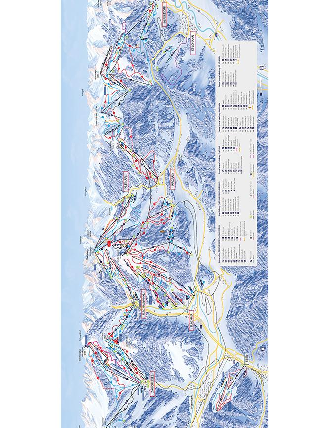 Flachau Snowboarding Map