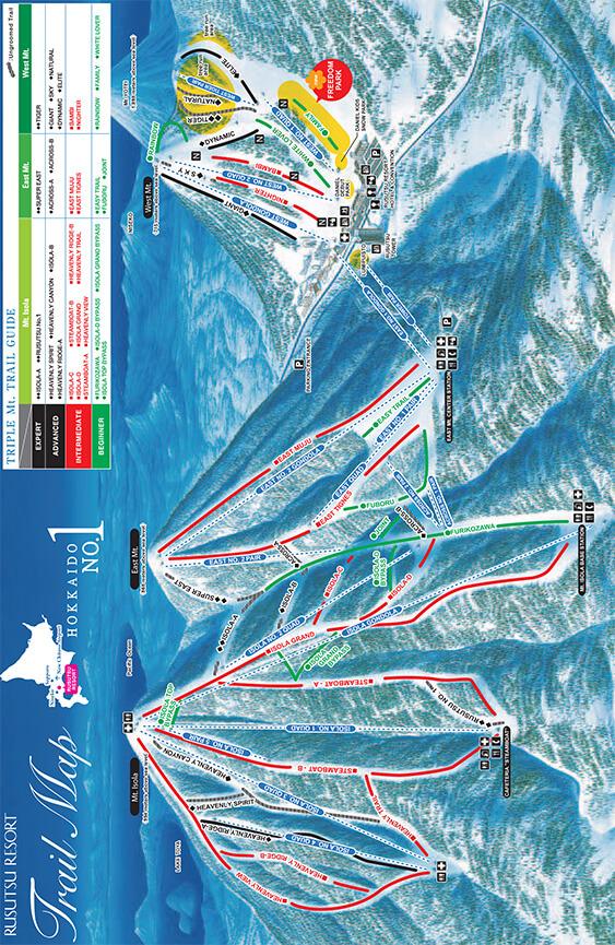 Rankoshi-Cho Chisenupuri Snowboarding Map
