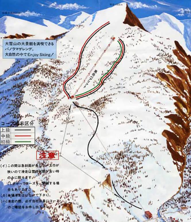 Kurodake Snowboarding Map