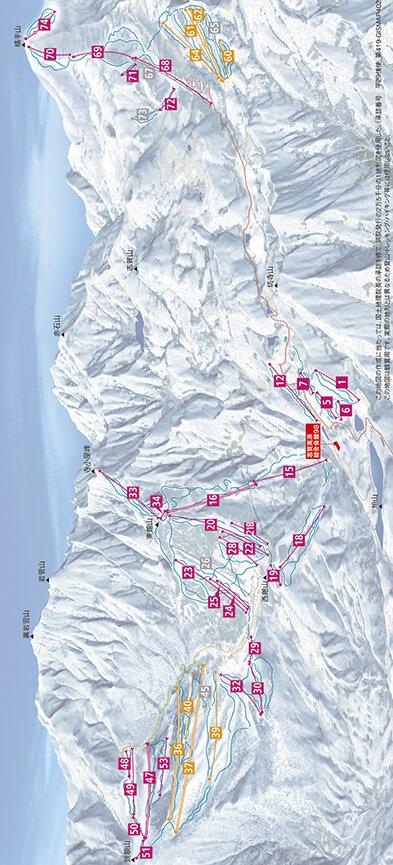 Shiga Kogen Snowboarding Map