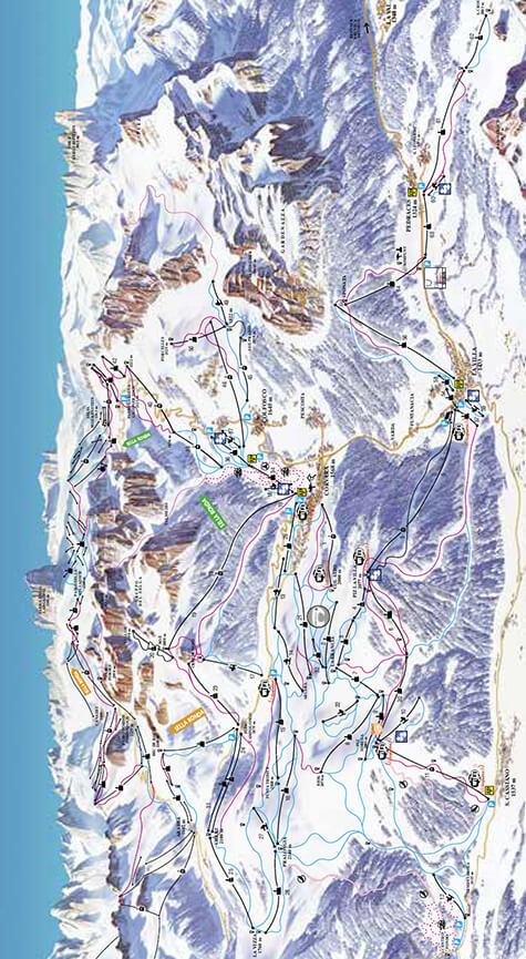 Alta Badia Snowboarding Map