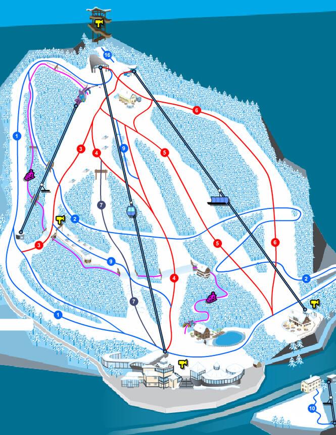 Zauberg-Semmering Snowboarding Map