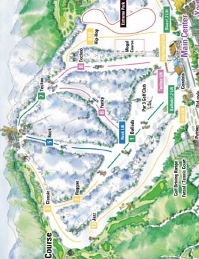 Daemyung Vivaldi Park Snowboarding Map