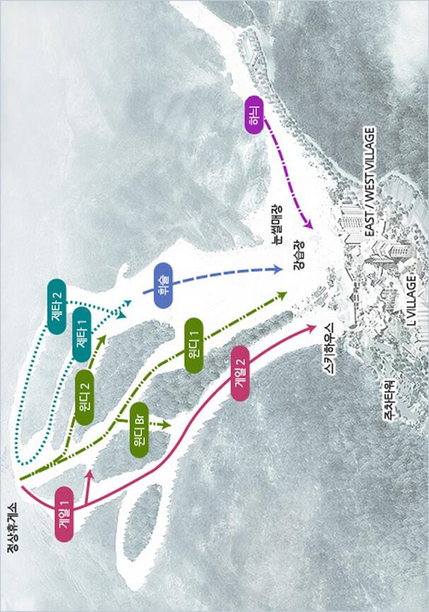 Konjiam Resort Snowboarding Map