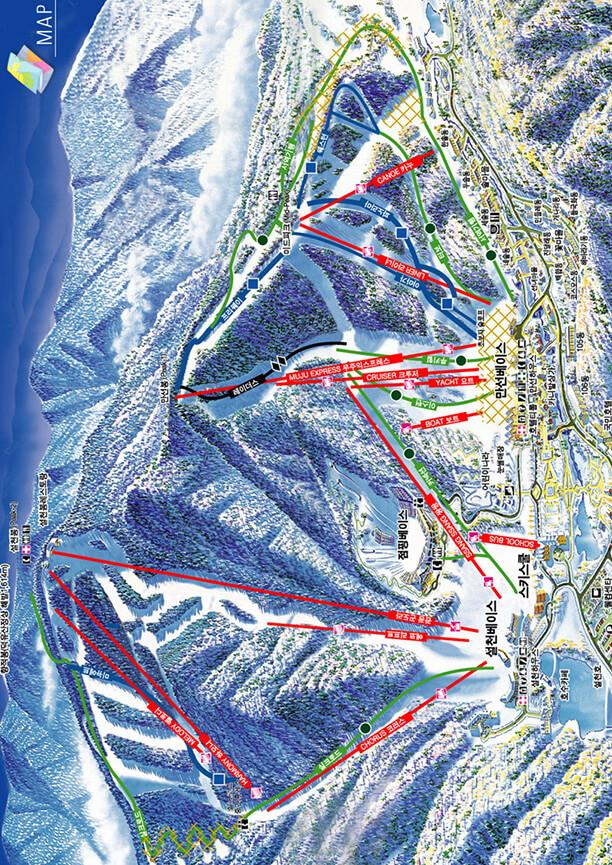 Muju Deogyusan Resort Snowboarding Map