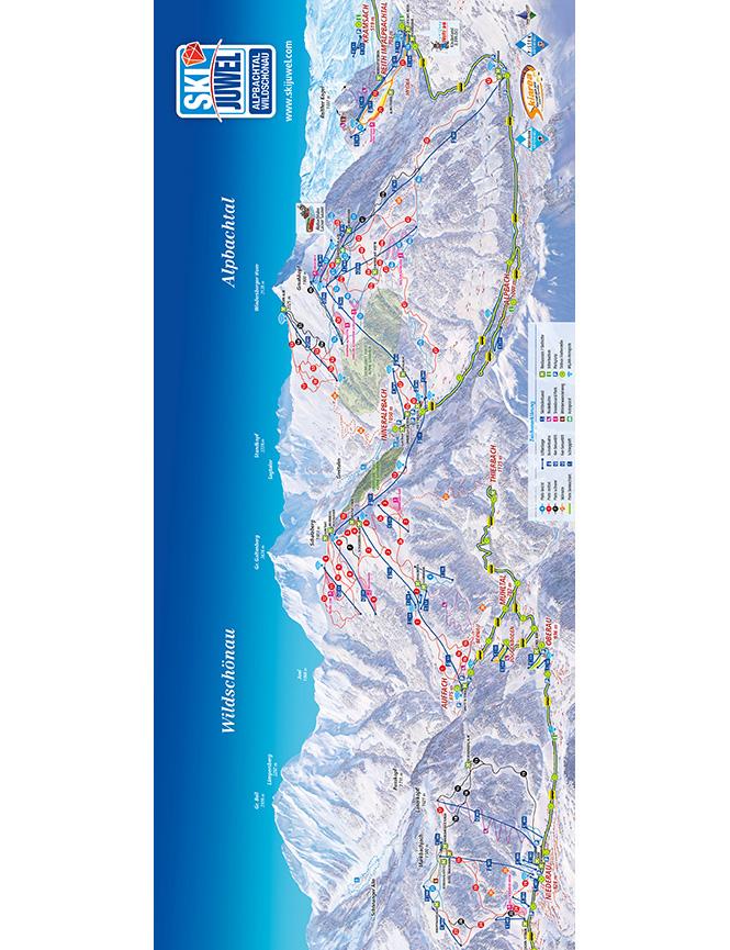 Alpbachtal Snowboarding Map
